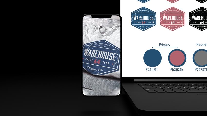 Warehouse 64 Brand Identity