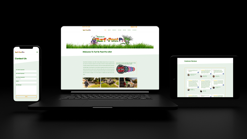 Turf and Pest Pro Web Design